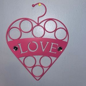 Heart Shaped Scarf Holder